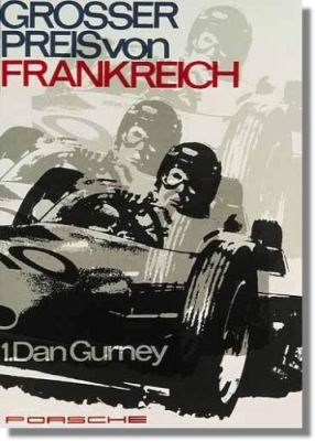 P Porsche Gp France Dan Gurney Victory Poster