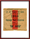 Vintage 1960 Le Mans 24 Hours Garage Vert Parking Ticket