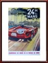 Vintage Original 1961 24 Hours of Le Mans Poster
