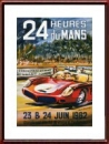 Vintage original 1962 24 Hours of Le Mans Poster