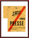 Vintage 1965 Le Mans 24 Hours Press Card