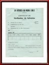 Vintage 1967 24 Heures du Mans Displacement Declaration Sheet