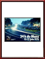 Vintage Original 1976 24 Hours of Le Mans Poster